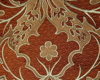Vintage FRENCH Jacquard upholstery fabric silk brocade French Revival cutter pillow silk fabric