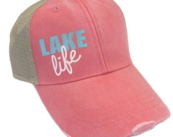 Lake Life and Lake Bum Hats Available in 3 Color Options