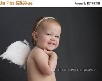 SUMMER SALE 20% OFF Angel Wings for Baby - Photo Prop Infant Feather Angel Wings - Fully Poseable for Newborn Photography