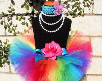 SUMMER SALE 20% OFF Baby Tutu Skirt - Dance Tutu - 1st Birthday Girl Tutu - Imagine- Rainbow Birthday Tutu - Sewn Infant Toddler Tutu - up t