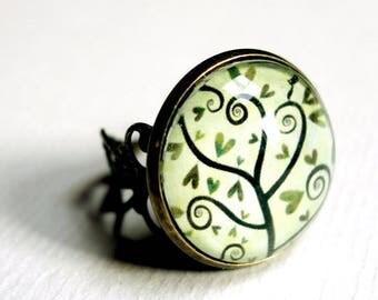 Vintage tree BAV140 spiral ring