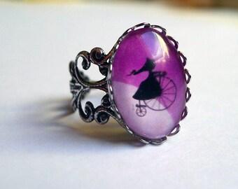 Vintage ring, Moon BA063 rise