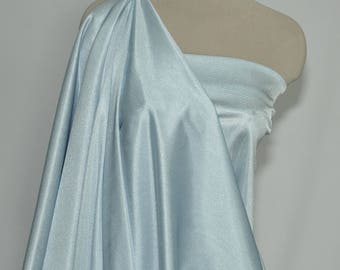 "Nylon Tricot stretch fabric 40 denier. Powder Blue   . . lingerie, slips, panties, wedding, decor, bridal, crafts 108"" wide 100% nylon"