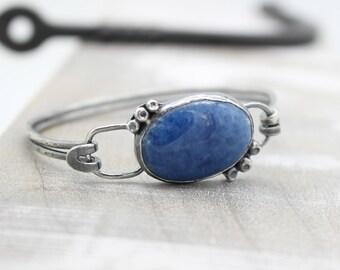 Lapis Lazuli Sterling Silver Bangle Bracelet