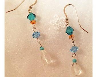 Swarovski Crystal touch of blue earrings