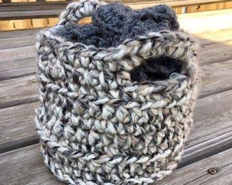 Sale Petite Basket Knit Accessories Home Decorating Decorate Basket Hand Knit Small Baskets