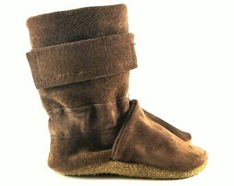 0 to 6 Month, Soft Sole, Slip On, Leather Winter Baby Boots