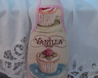 Love Vanilla Rose  Cupcake  Dish Soap Bottle Apron