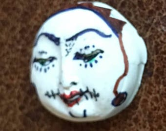clay face jewelry craft supplies jester spirit dolls handmade cabochon round  polymer clay doll parts head mask tribal