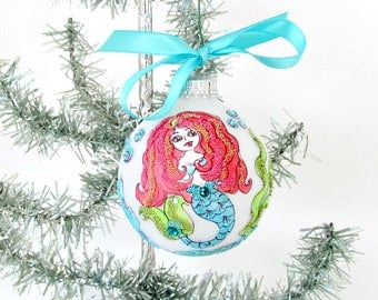 Mermaid ornaments | Etsy