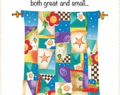 """New 6"""" x 12"""" Fabric Art Panel for Quilters - Quilter's Wisdom - Quilt"""