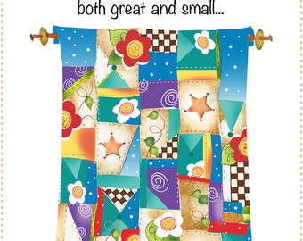 "New 6"" x 12"" Fabric Art Panel for Quilters - Quilter's Wisdom - Quilt"