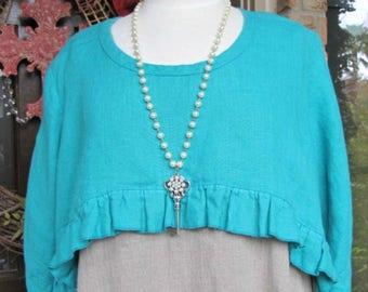 Turquoise shrug | Etsy