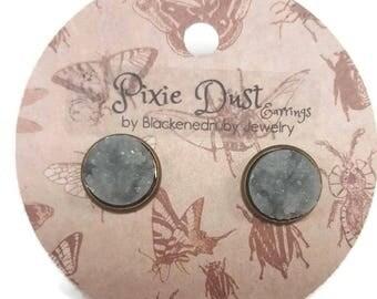 Granite - Pixie Dust stud Earrings