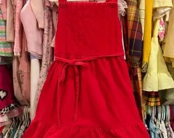70s Corduroy Dress Girls 6/7