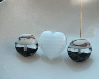 3 Murano Glass Beads