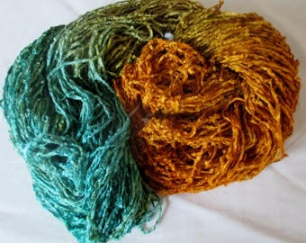 Handpainted Soft Rayon Chenille Yarn  SUMMER BREEZE  -  325 yds