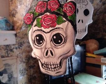 Frida Kahlo Ornament Day of the Dead Skull Decor Dia de los Muertes