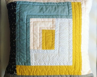 """Little Quilted Pillow Cover 12"""""""