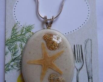 Star Fish Sea Shell Necklace Coastal