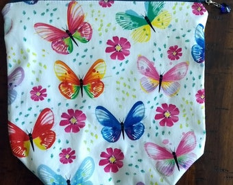butterfly zipper pouch project bag