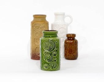 Green SCHEURICH vase 282-20, West Germany pottery, Jura decor, Mid Century Modern Home Decor