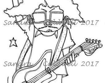 2026 Rock On Star Digi Stamp