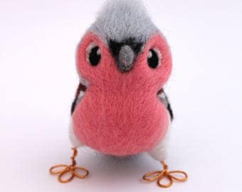 Chaffinch Needle Felted Bird Ornament British Bird
