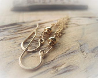 14K Gold Filled Chain Earring Pair JE2364