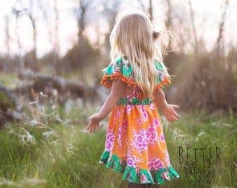 SALE Girls Dress Pattern - The Celebration Dress - sewing tutorial PDF newborn through 12 girls