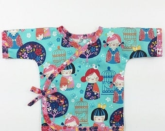 SALE Kimono Top Sewing Pattern for Babies -- 0m - 24m PDF Instant by Whimsy Couture