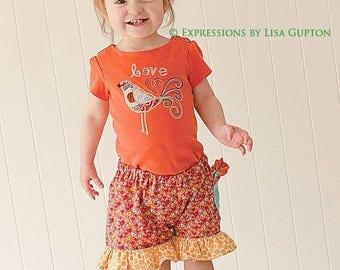 SALE Pretty Girls Shorts Pattern ruffles, flat front, newborn through size 8 PDF Instant