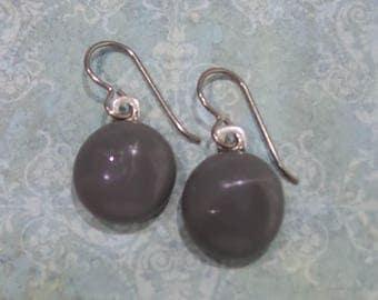 Gray Niobium Earrings, Grey Dangle Earring, Hypoallergenic Earrings, Nickel Free Earrings, Niobium Ear Jewelry - Denae -7