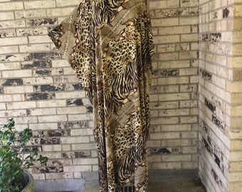Extra Long Plus Size Lightweight Rayon Caftan