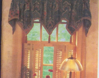 Simplicity Home Window Treatments Curtains Easy Basics  Vintage Sewing Pattern 8040    UNCUT