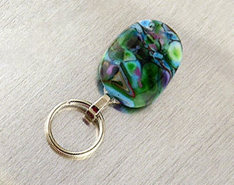 Magnetic ID Holder & Magnetic Eyeglass Holder Handmade with Lampwork Glass