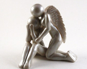Loss of Mother, Loss of Wife, Loss of Daughter, Sister or other loved one sculpture, memorial clay artwork - gift for loss - made to order