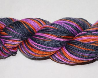 Ready to Ship - Ginny Self Striping Hand Dyed Sock Yarn - Superwash Worsted