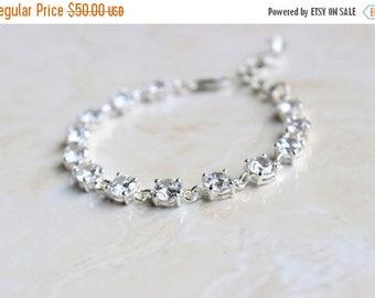 Summer Sale Bridal CZ Silver Tennis Bracelet  CNB12