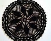 Black Doily 15.5 Inch Handmade Crochet Set of 4 Private Listing