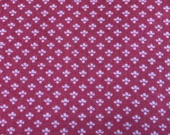 2 3/4 Yards of Pink and Off White Tiny Abstract Print Cotton Fabric