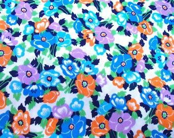 vintage skirt making fabric / original 60s / stretch