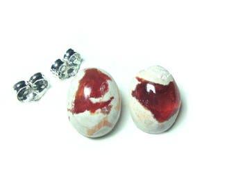 Mexican opal stud earrings