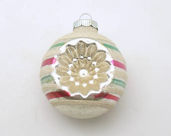 Vintage Christmas Ornament Glass Shiny Brite Indents