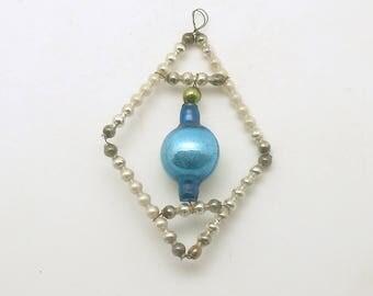 Vintage Christmas Ornament Czech Glass Bead Christmas Decoration