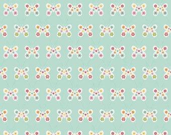 ON SALE Riley Blake Designs Garden Girl by Zoe Pearn - Butterfly Mint