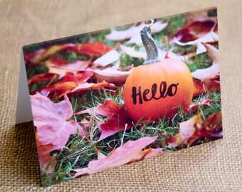 Pumpkin Hello Notecard