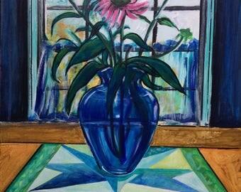 Wall Art - Art Print - Flower Art - Still Life Art - Summer's Last Bloom - Leah Reynolds
