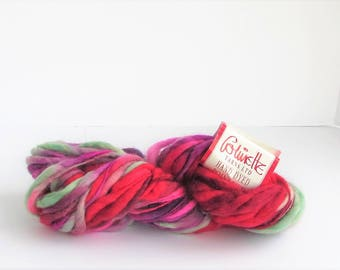Point 5, Colinette yarn, bulky, bright, Raspberry, wool,