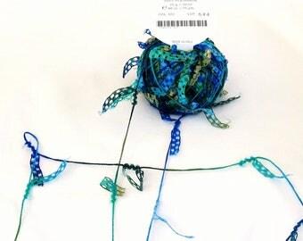 Cubetti 972, Trendsetter yarn, novelty yarn, flag yarns, blue, green, turquoise